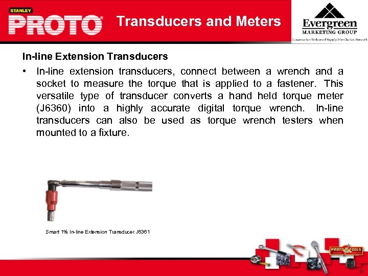 Transducers and Meters In-line Extension Transducers • In-line extension transducers, connect between a wrench