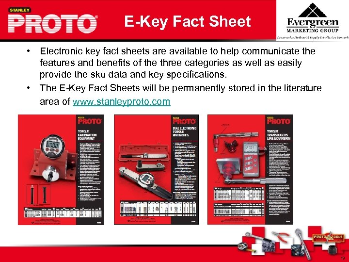 E-Key Fact Sheet • Electronic key fact sheets are available to help communicate the