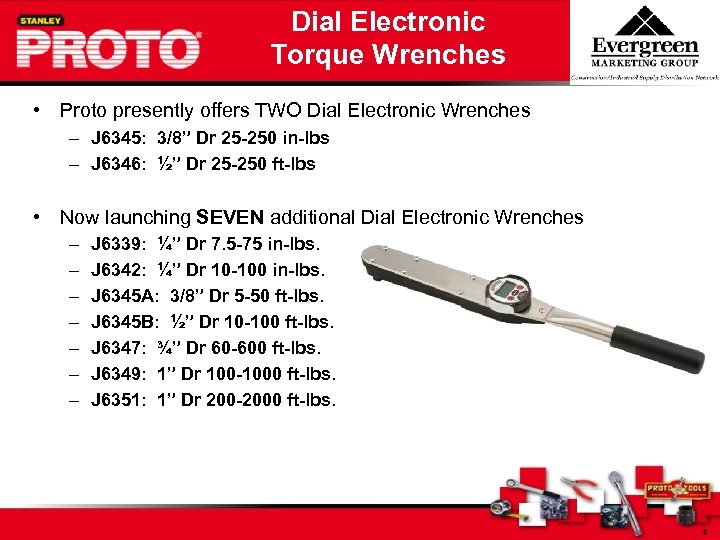 Dial Electronic Torque Wrenches • Proto presently offers TWO Dial Electronic Wrenches – J
