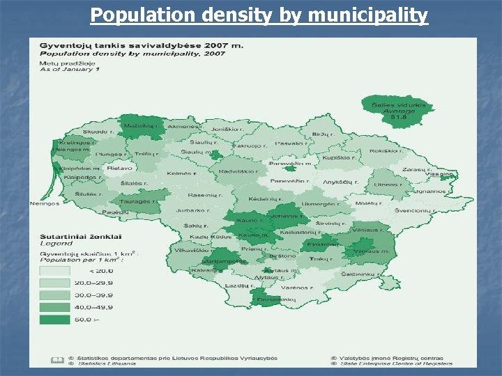 Population density by municipality