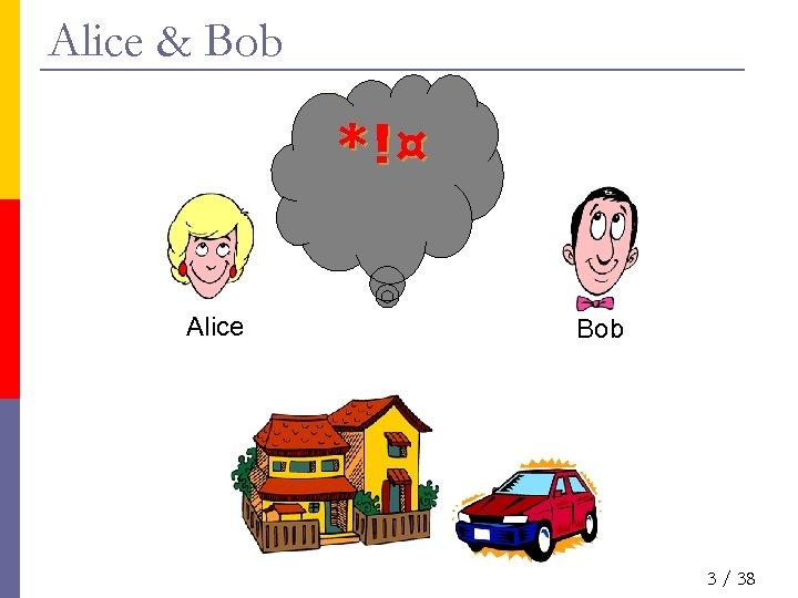 Alice & Bob *!¤ Alice Bob 3 / 38