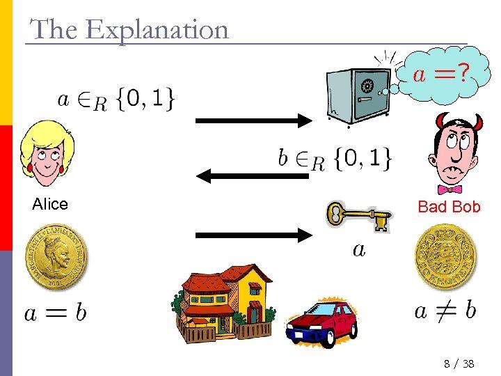 The Explanation Alice Bad Bob 8 / 38