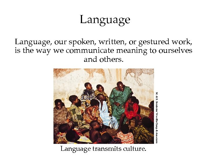 Language, our spoken, written, or gestured work, is the way we communicate meaning to