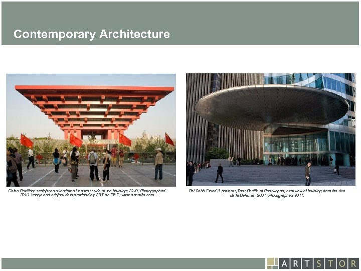 Art. STOR Contemporary Architecture China Pavilion; straight on overview of the west side of