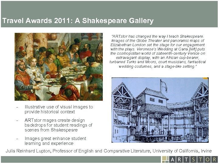 Art. STOR Travel Awards 2011: A Shakespeare Gallery