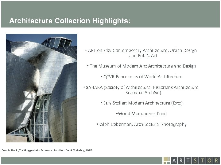 Art. STOR Architecture Collection Highlights: • ART on File: Contemporary Architecture, Urban Design and