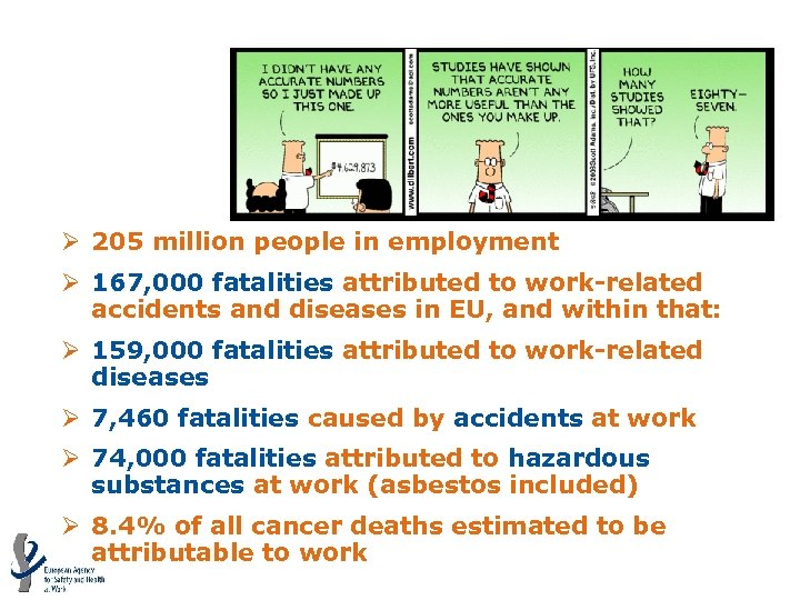 Estimation of work-related Fatalities – EU 27 Ø 205 million people in employment Ø