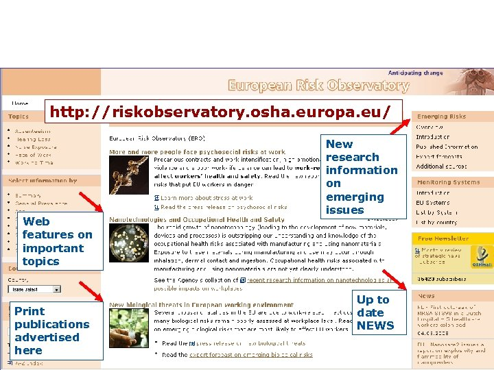 All this information is available from the ERO website http: //riskobservatory. osha. europa. eu/