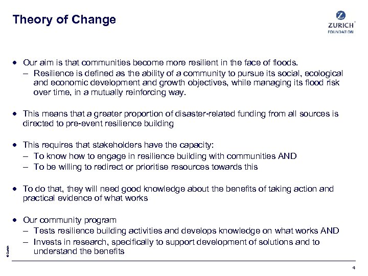 Theory of Change Our aim is that communities become more resilient in the face
