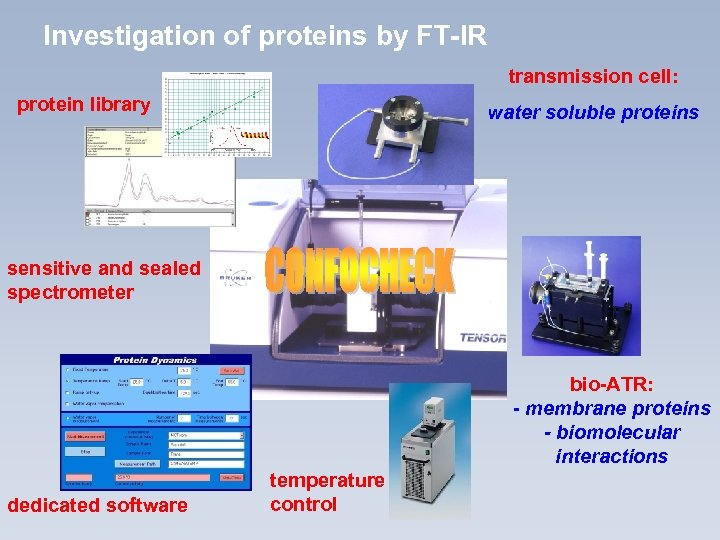 Investigation of proteins by FT-IR transmission cell: protein library water soluble proteins sensitive and