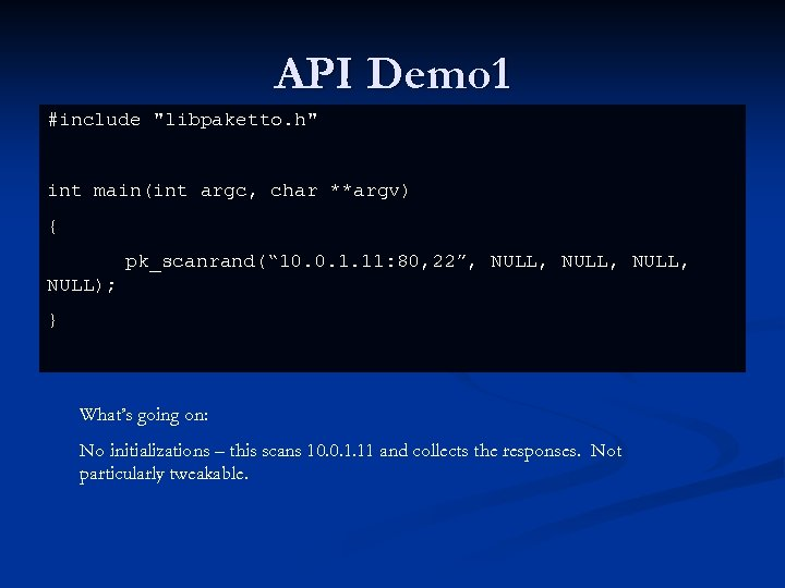 API Demo 1 #include