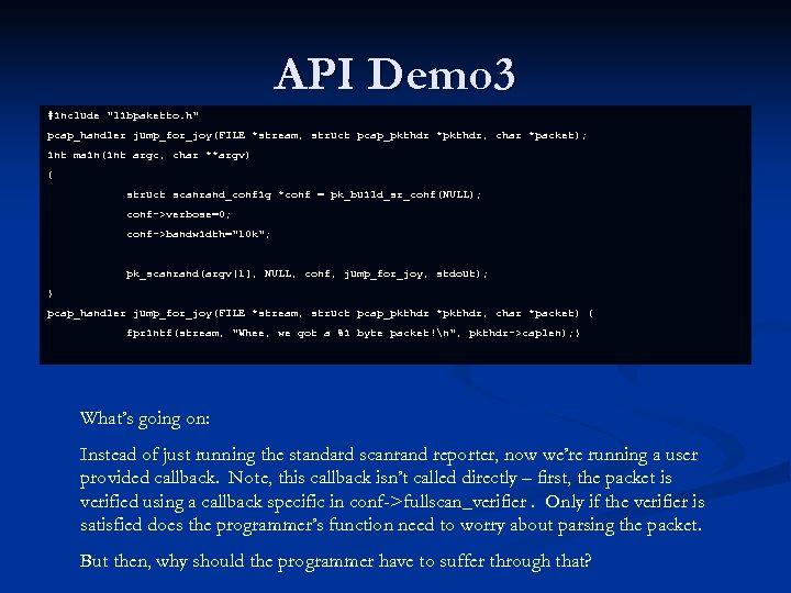 API Demo 3 #include