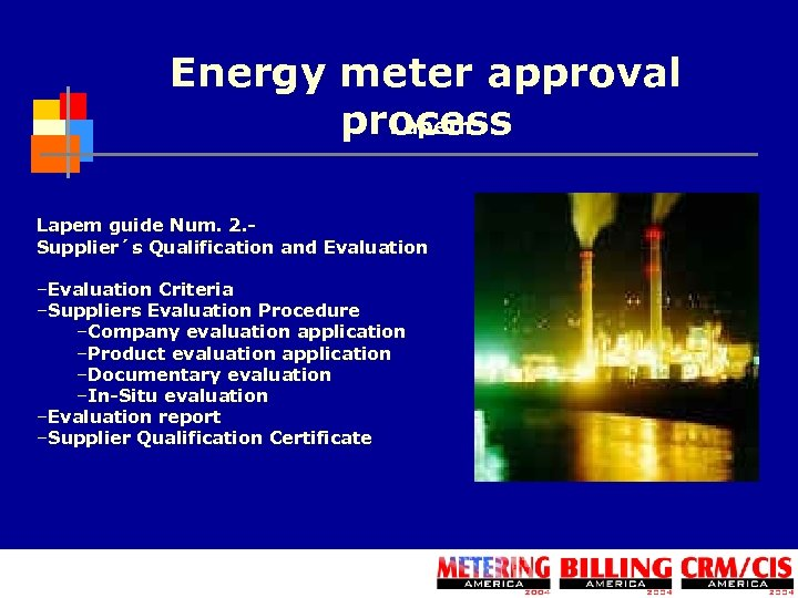 Energy meter approval process Lapem guide Num. 2. Supplier´s Qualification and Evaluation –Evaluation Criteria