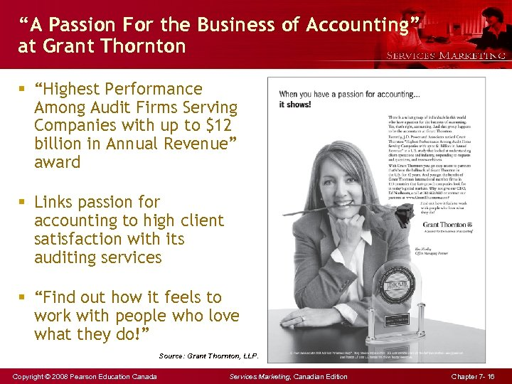 """""""A Passion For the Business of Accounting"""" at Grant Thornton § """"Highest Performance Among"""