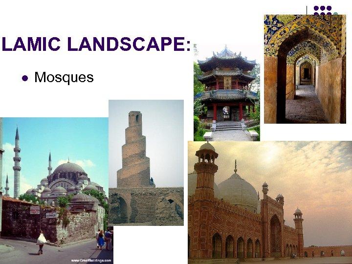 SLAMIC LANDSCAPE: l Mosques