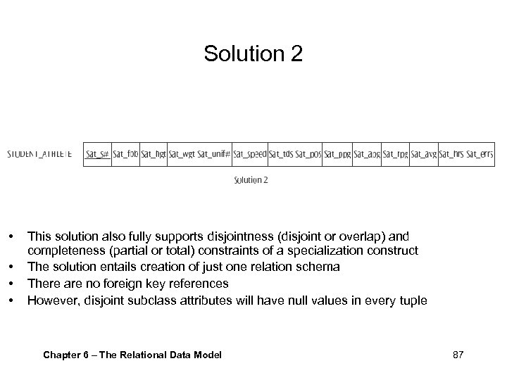 Solution 2 • • This solution also fully supports disjointness (disjoint or overlap) and