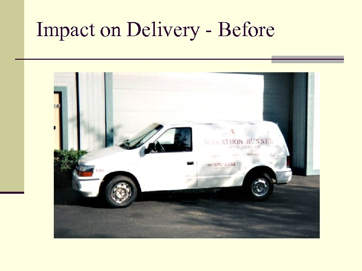 Impact on Delivery - Before