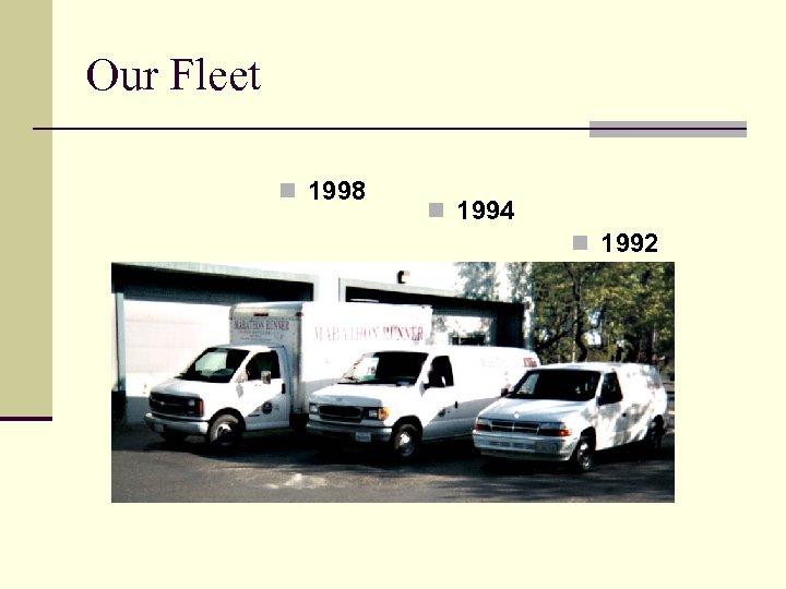 Our Fleet n 1998 n 1994 n 1992