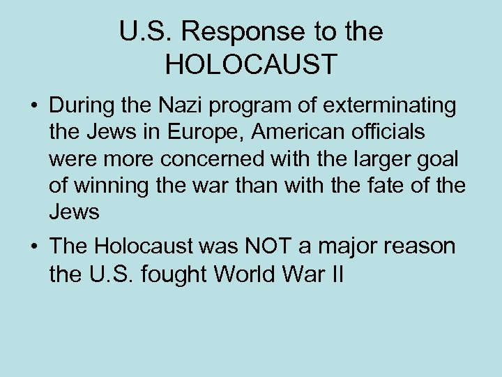 the american response to the holocaust The editor of the world reacts to the holocaust, david wyman, established himself as the foremost historian of the american response with his book, abandonment of the jews, in 1984 here the severe strictures upon president roosevelt in that book are somewhat moderated.