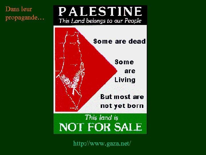 Dans leur propagande… http: //www. gaza. net/