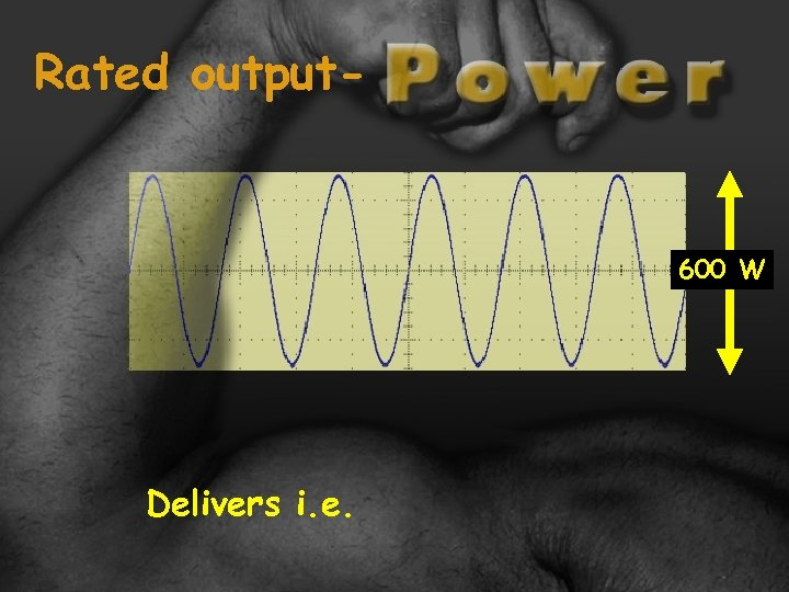 Rated output- 600 W Delivers i. e.