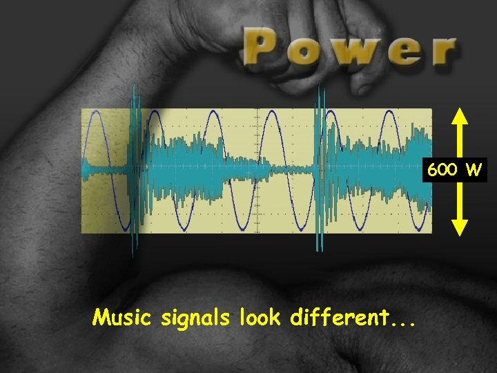 600 W Music signals look different. . .