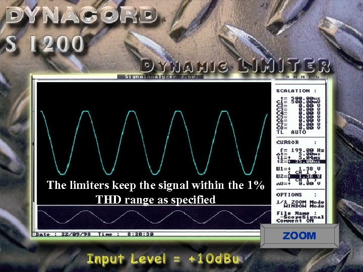 The limiters keep the signal within the 1% THD range as specified ZOOM