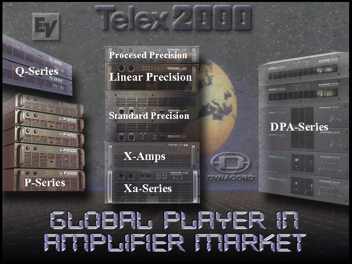 Procesed Precision Q-Series Linear Precision Standard Precision X-Amps P-Series Xa-Series DPA-Series