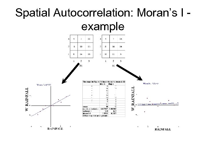 Spatial Autocorrelation: Moran's I example