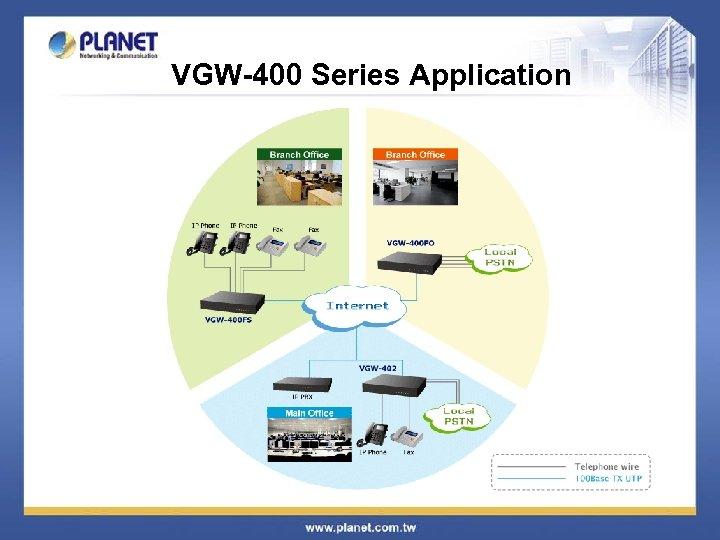 VGW-400 Series Application