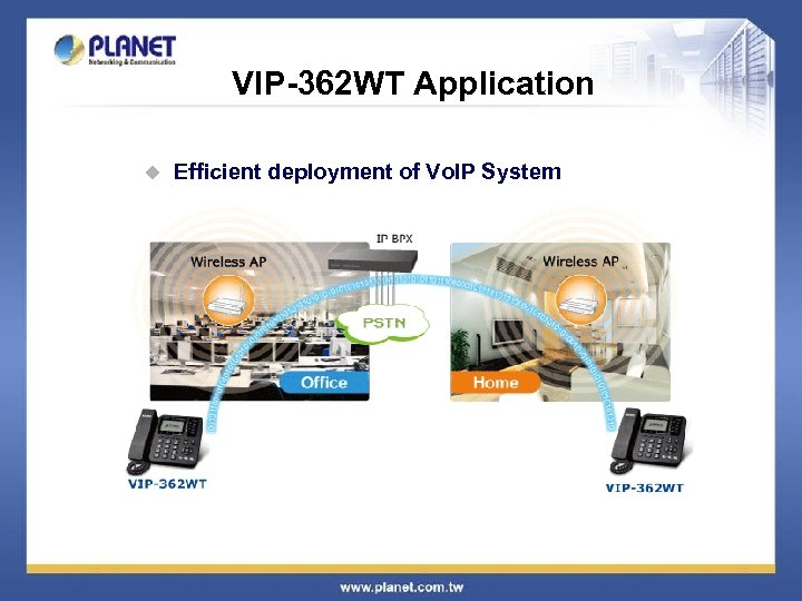 VIP-362 WT Application u Efficient deployment of Vo. IP System