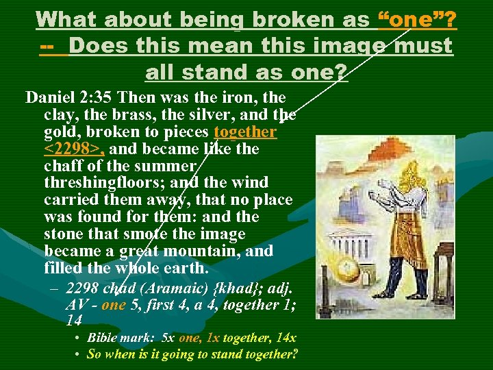 """What about being broken as """"one""""? -- Does this mean this image must all"""