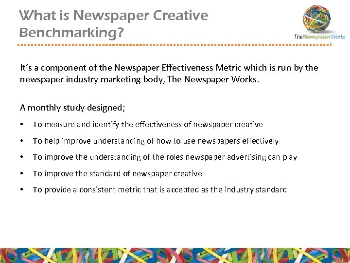 It's a component of the Newspaper Effectiveness Metric which is run by the newspaper