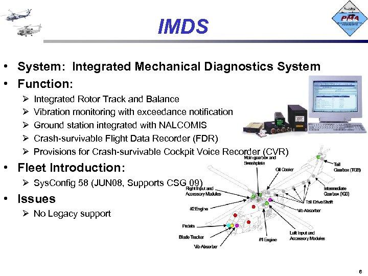 IMDS • System: Integrated Mechanical Diagnostics System • Function: Ø Ø Ø Integrated Rotor