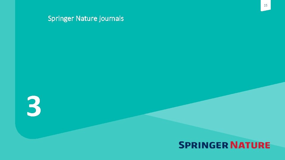 15 Springer Nature journals 3