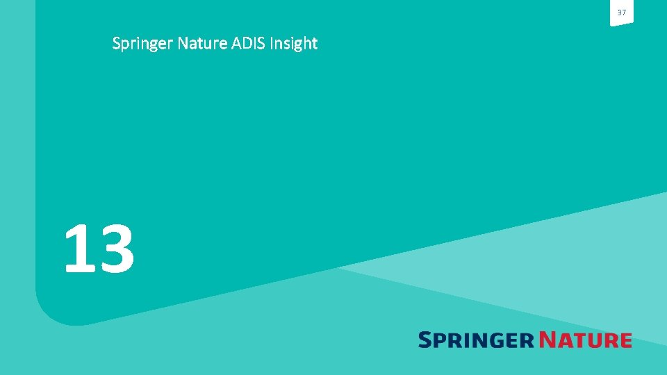 37 Springer Nature ADIS Insight 13