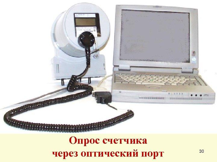 Опрос счетчика через оптический порт 30