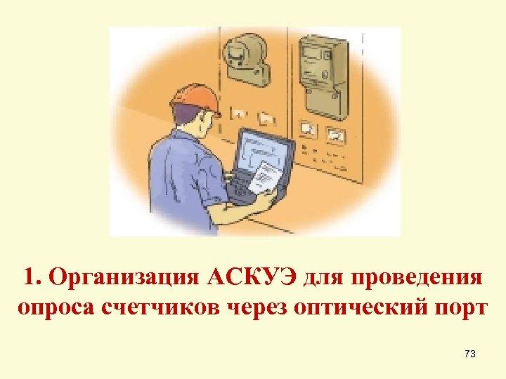 1. Организация АСКУЭ для проведения опроса счетчиков через оптический порт 73