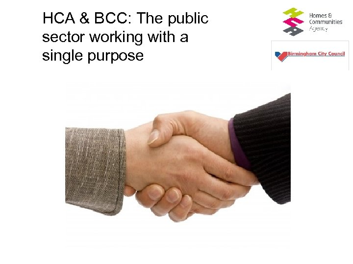 HCA & BCC: The public sector working with a single purpose