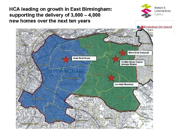 HCA leading on growth in East Birmingham: supporting the delivery of 3, 000 –