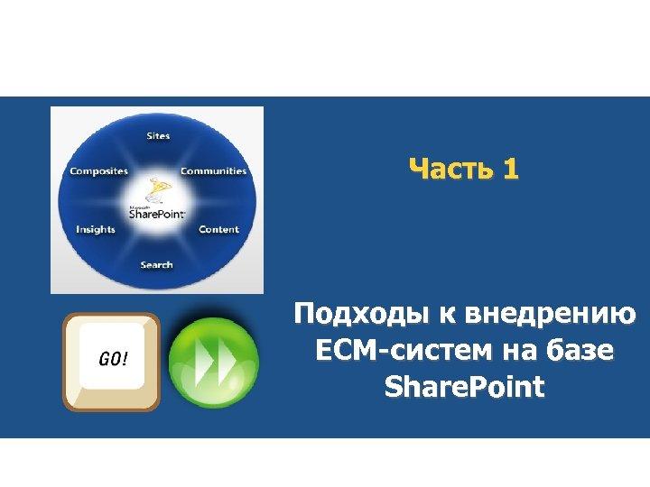 Часть 1 Подходы к внедрению ЕСМ-систем на базе Share. Point