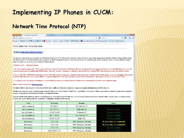Implementing IP Phones in CUCM: Network Time Protocol (NTP)