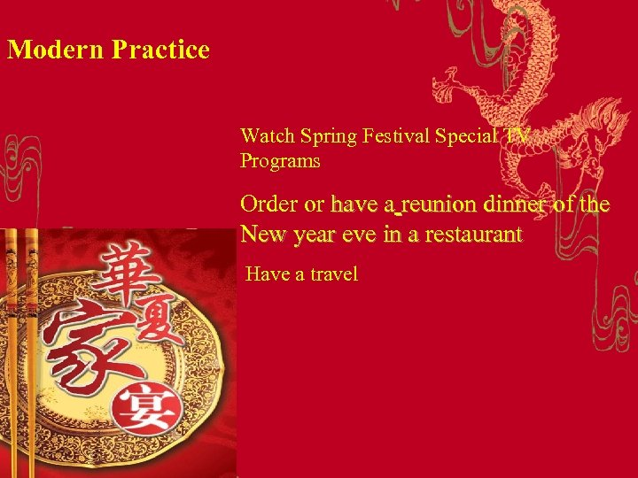 Modern Practice Watch Spring Festival Special TV Programs Order or have a reunion dinner