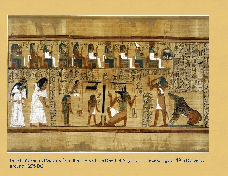 British Museum, Papyrus from the Book of the Dead of Any From Thebes, Egypt,