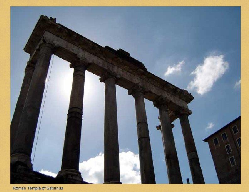 Roman Temple of Saturnus