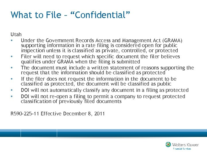 """What to File – """"Confidential"""" Utah • Under the Government Records Access and Management"""