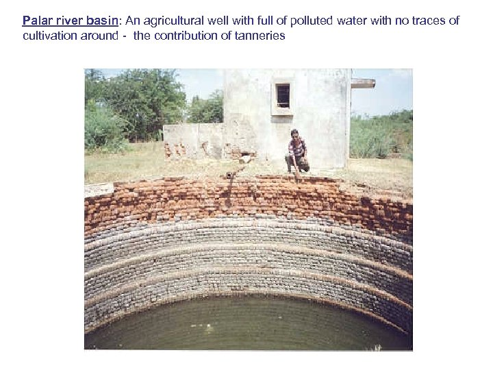 Palar river basin: An agricultural well with full of polluted water with no traces