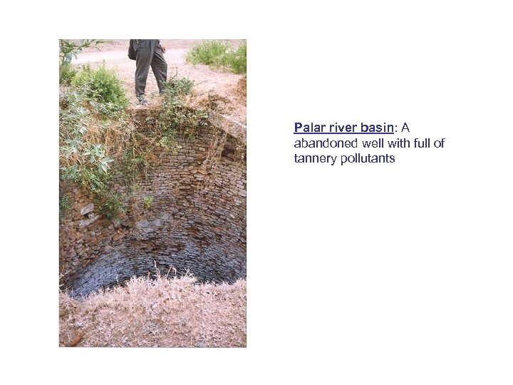Palar river basin: A abandoned well with full of tannery pollutants