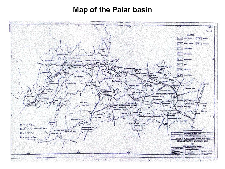 Map of the Palar basin