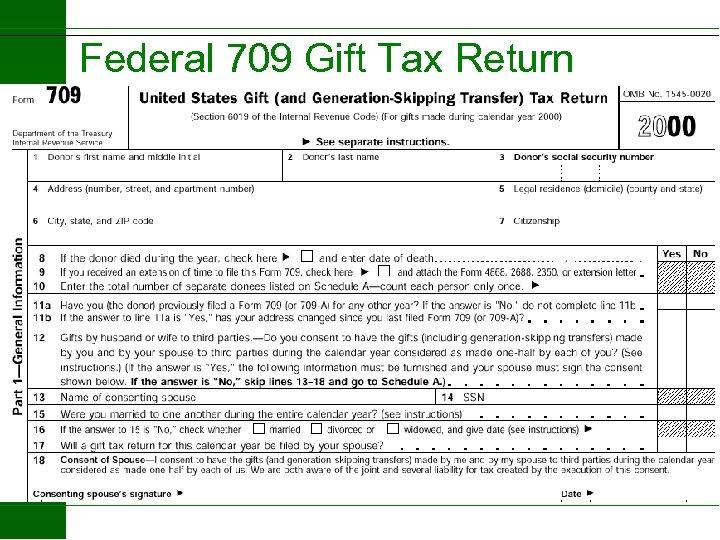 Federal 709 Gift Tax Return